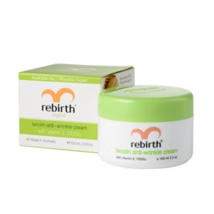 Rebirth Lanolin Anti-wrinkle Cream With Vitamin E & Lanolin, 100mL jar