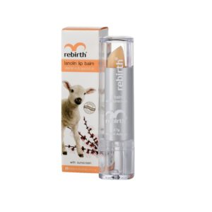 Rebirth Lanolin Lip Balm With Vitamin E & Apricot Oil (With Sunscreen SPF15+)
