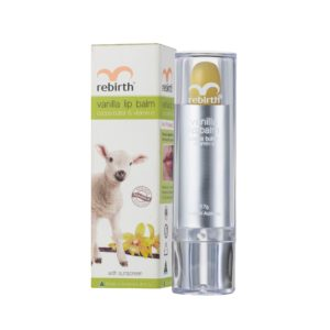 Rebirth Vanilla Lip Balm With Cocoa Butter & Vitamin E (With Sunscreen SPF15+)