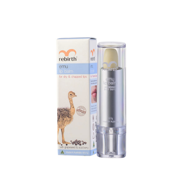 Rebirth Emu Lip Balm With Grape Seed & Acai Berry (With Sunscreen SPF15+)
