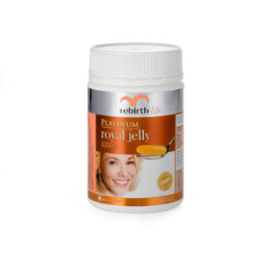 Rebirth Life Platinum Royal Jelly 1,000 mg – 60 capsules