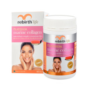 Rebirth Life Marine Collagen antioxidant complex co-enzyme Q10 60 Capsules