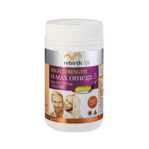 Rebirth Life High Strength H-MAX Omega 3 120 Capsules